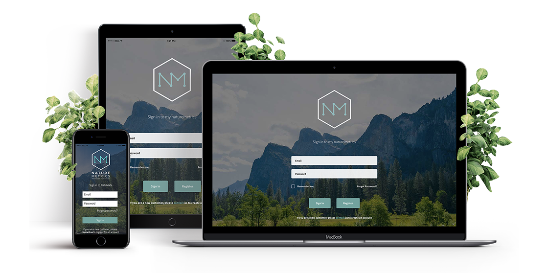 Nature Metrics Portal and FieldMate App